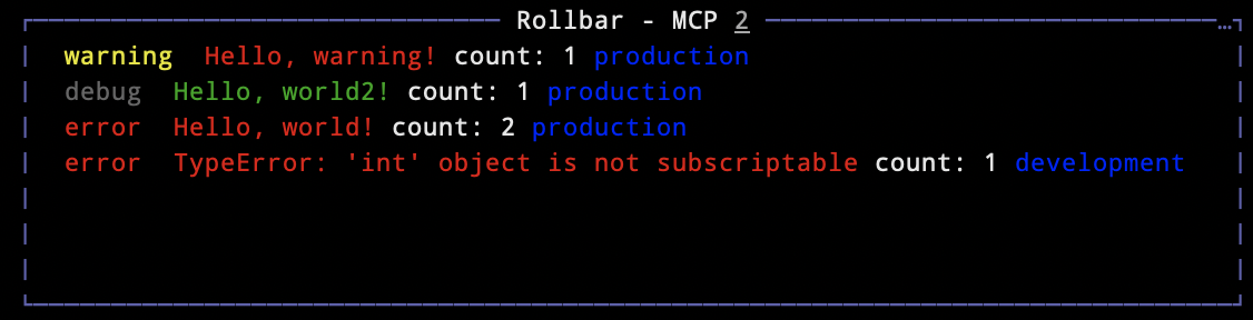 rollbar screenshot