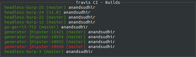 travisci screenshot